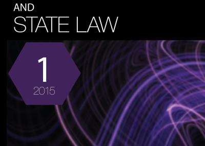 Конституционное и государственное право №1, 2015