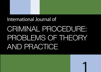 Criminal procedure: problems of theory and practice