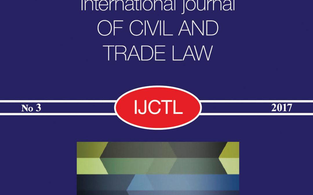 Международный журнал гражданского и торгового права